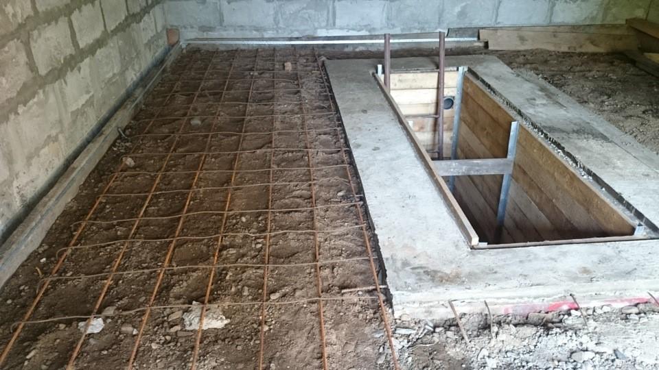 Заливка пола бетоном в гараже