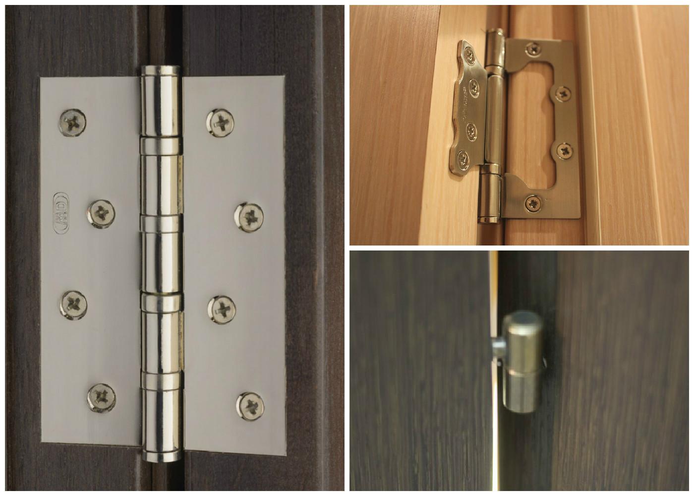 монтаж неразборных дверных петель